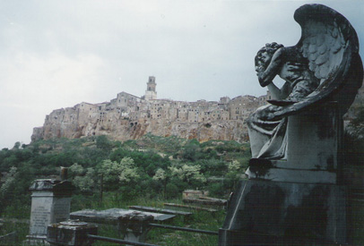 Photo: View of Pitigliano from the Jewish cemetary