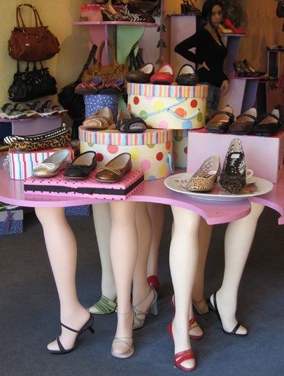 Photo: Display of high heel shoes